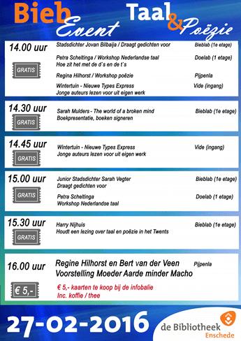 biebevent 27 Februari programma TaalTrainingen Twente